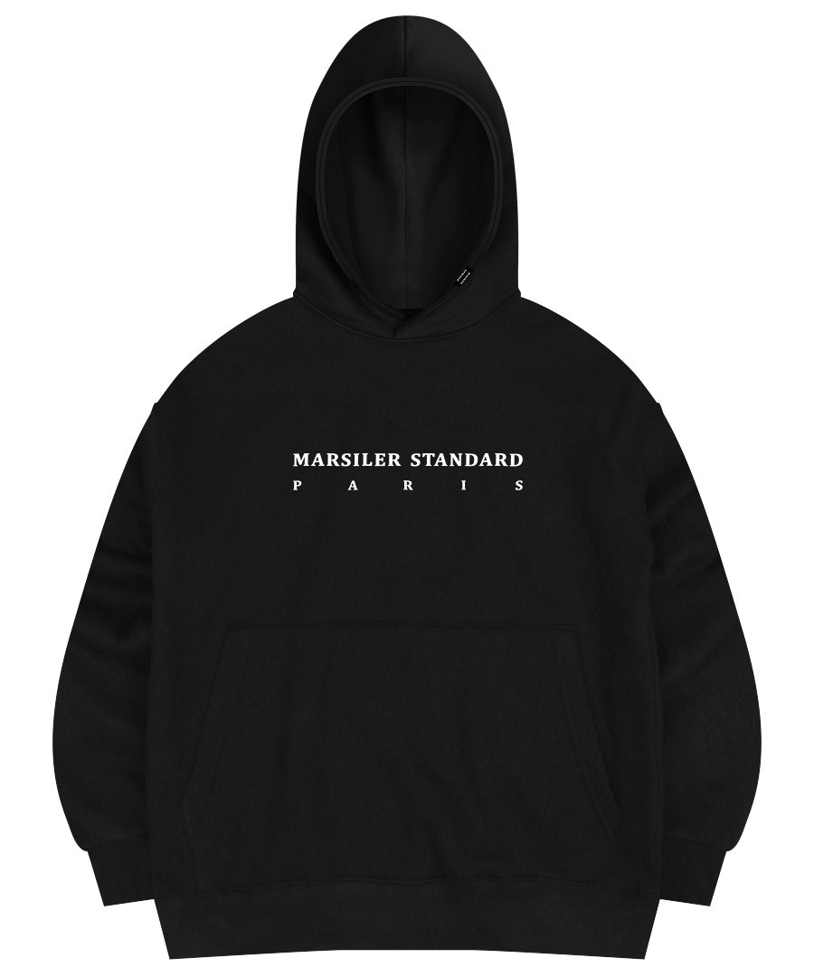 FRANC HOODED SWEAT SHIRT BLACK