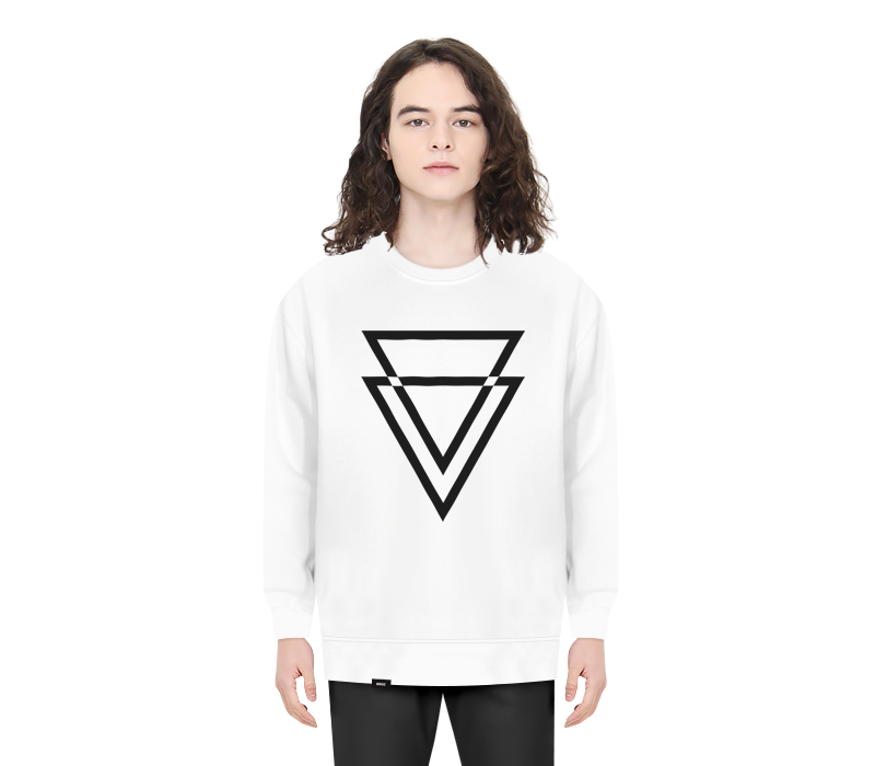 TRIANGLE CREWNECK WHITE
