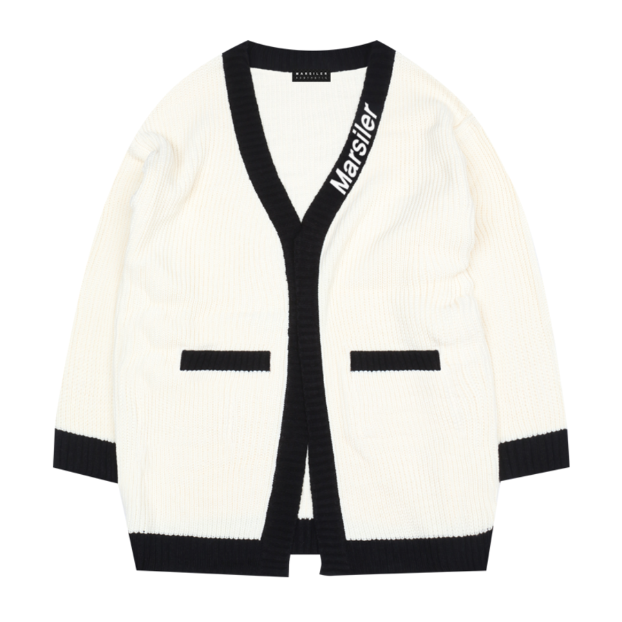 ANDSI MK1 Knit Cardigan White