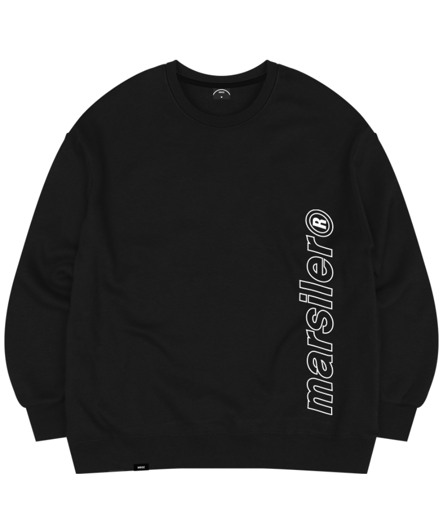 OUTLINE CREWNECK BLACK