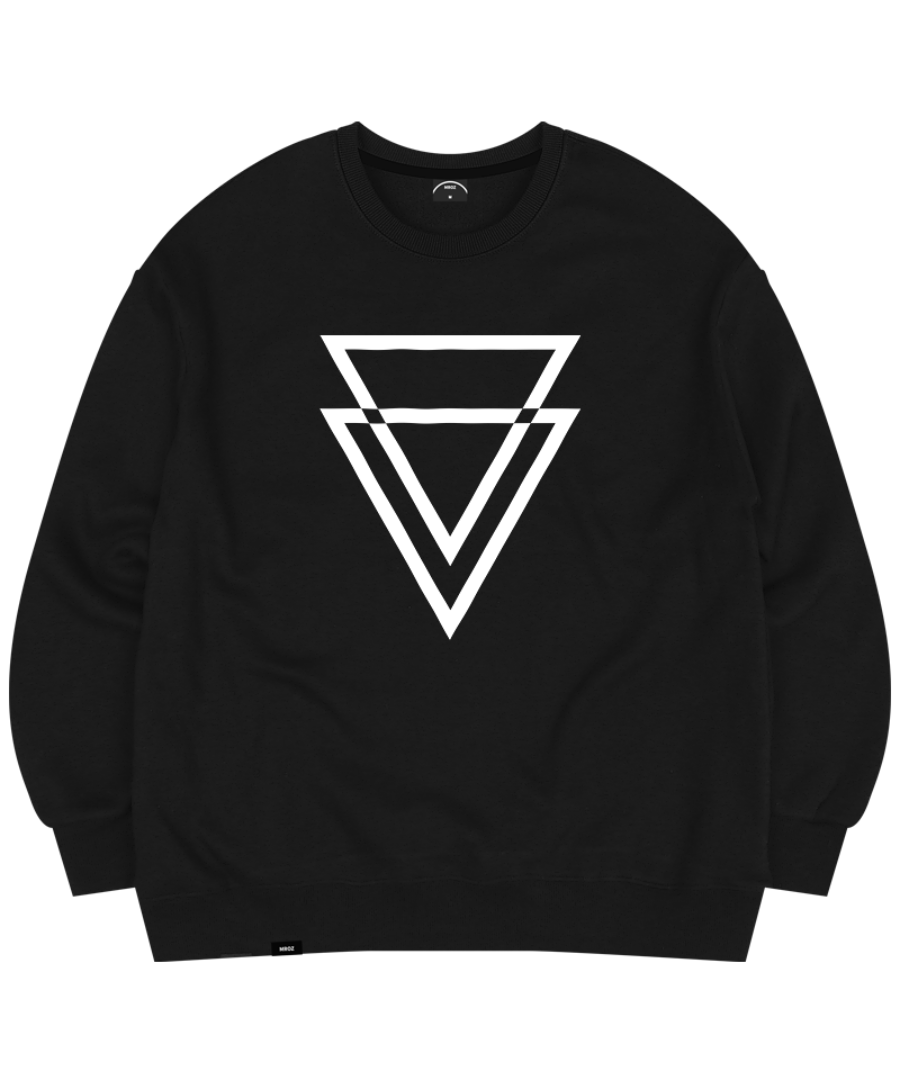 TRIANGLE CREWNECK BLACK