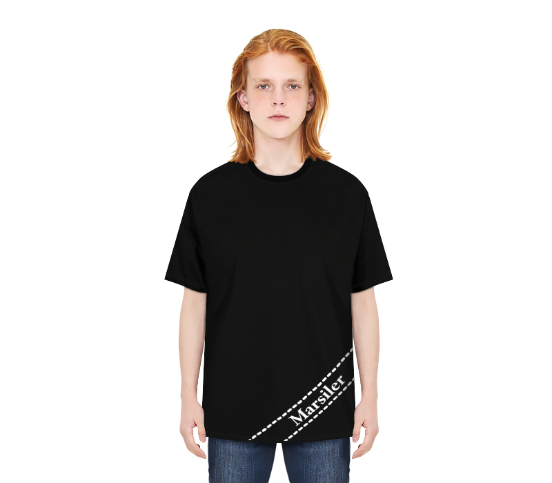 DIAGONAL TEE BLACK