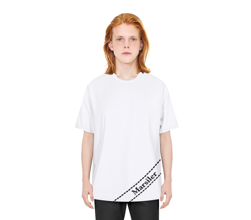 DIAGONAL TEE WHITE