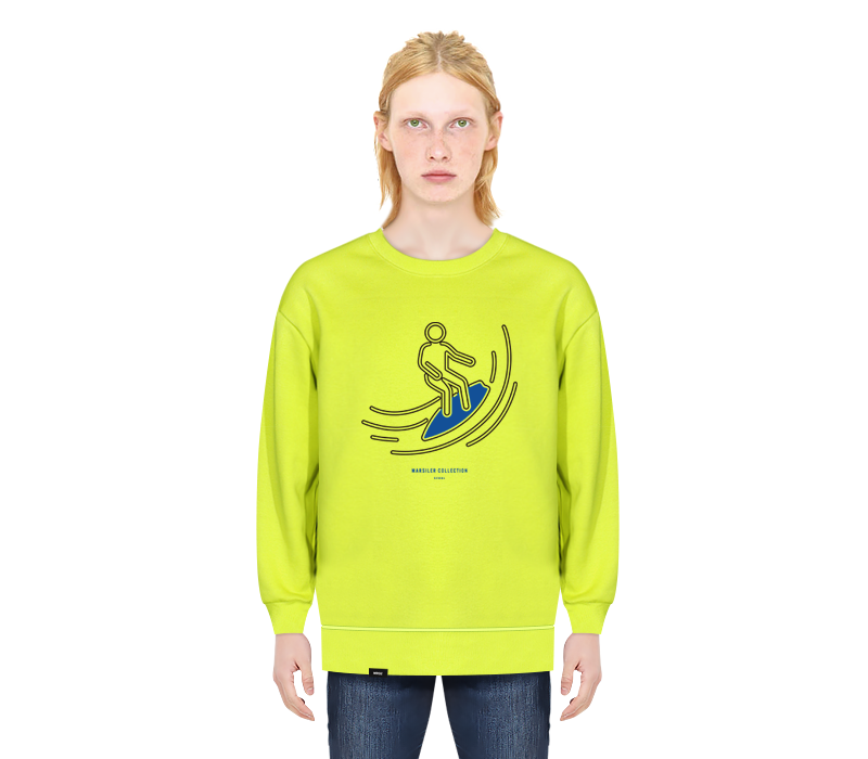 SURFER CREWNECK LIME
