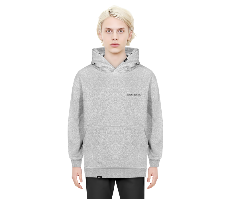 STANDARD HOODED SWEAT SHIRT GRAY