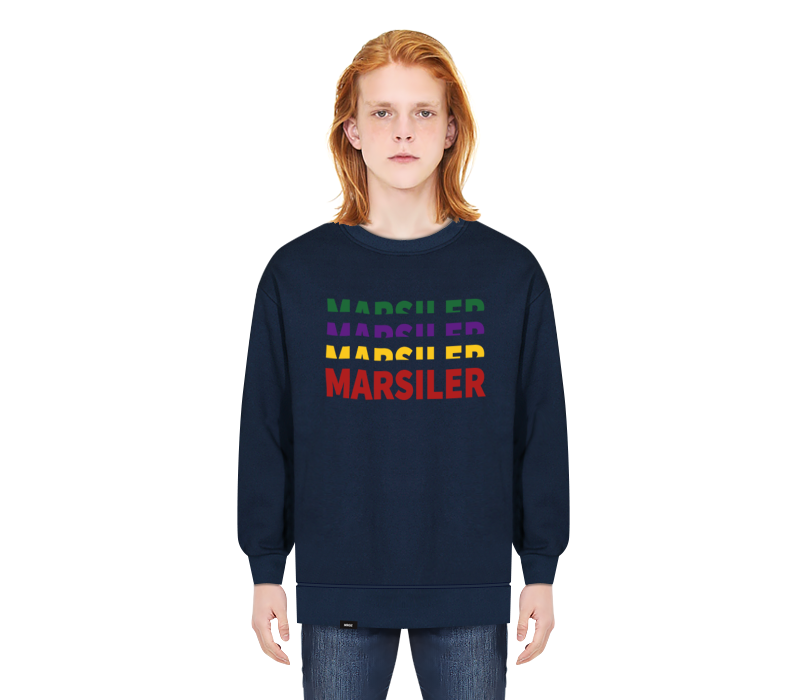 RAINBOW CREWNECK NAVY