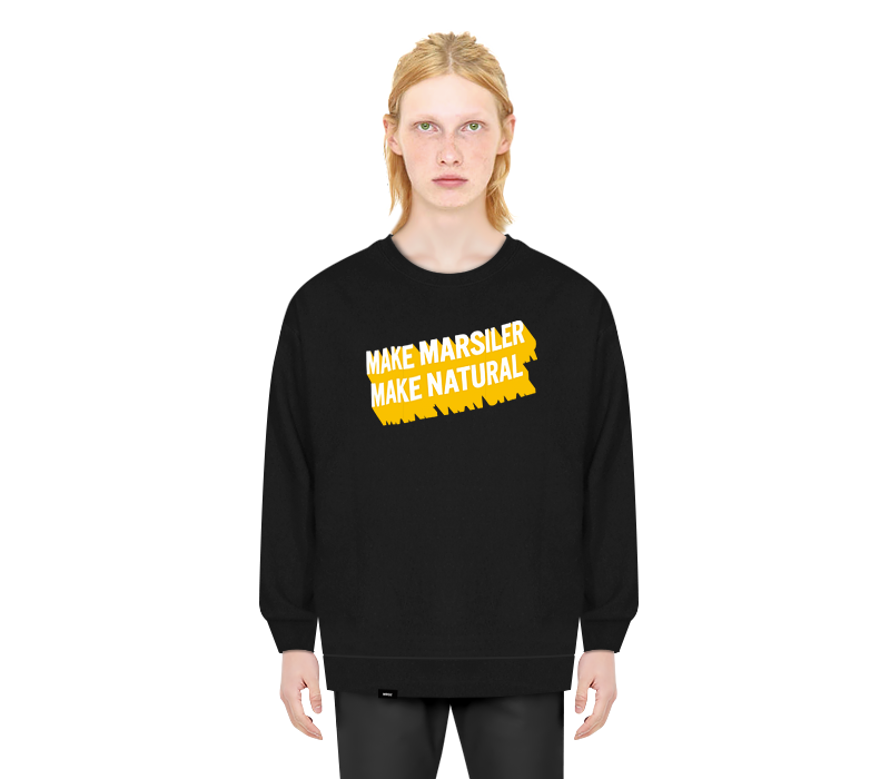 NATURAL CREWNECK BLACK