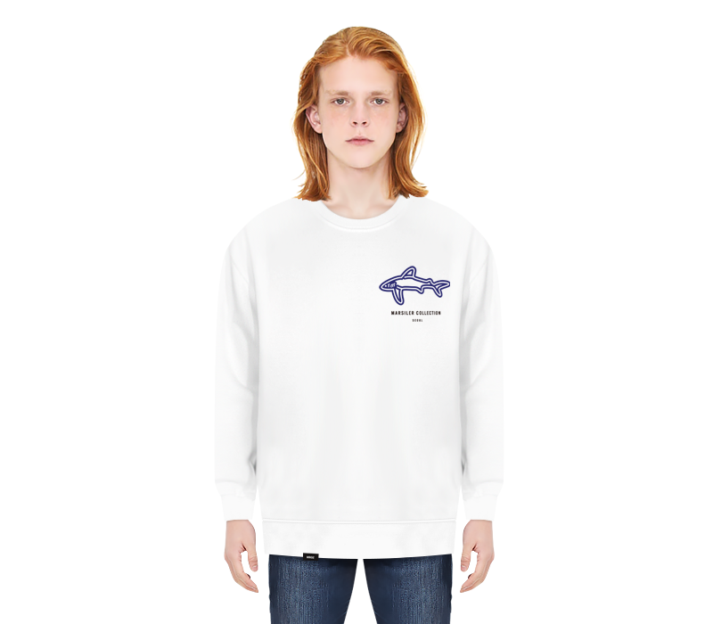 SHARK CREWNECK WHITE