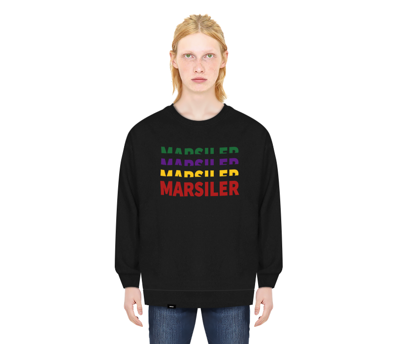 RAINBOW CREWNECK BLACK