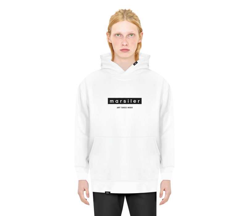 BASIC HOODED SWEAT SHIRT WHITE