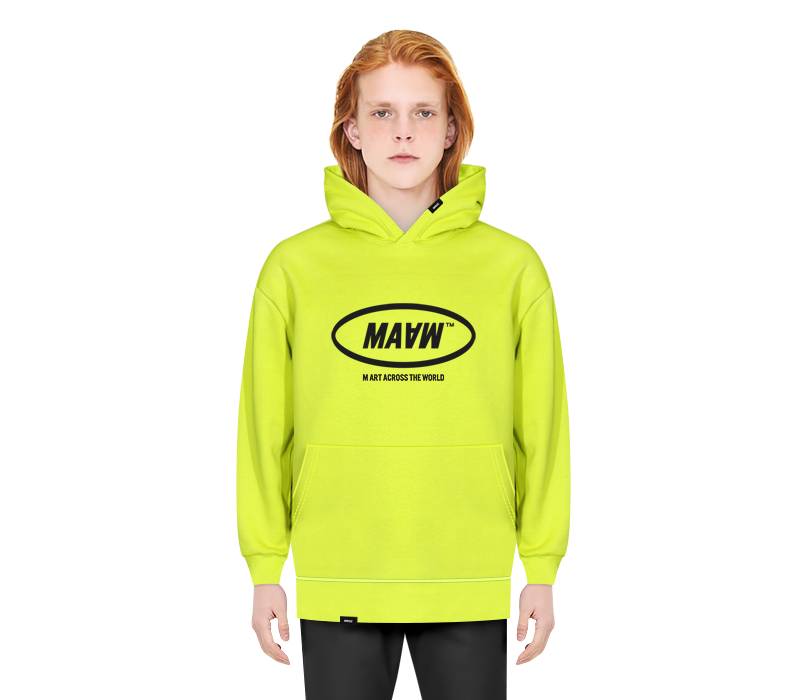MAAW HOODED SWEAT SHIRT LIME