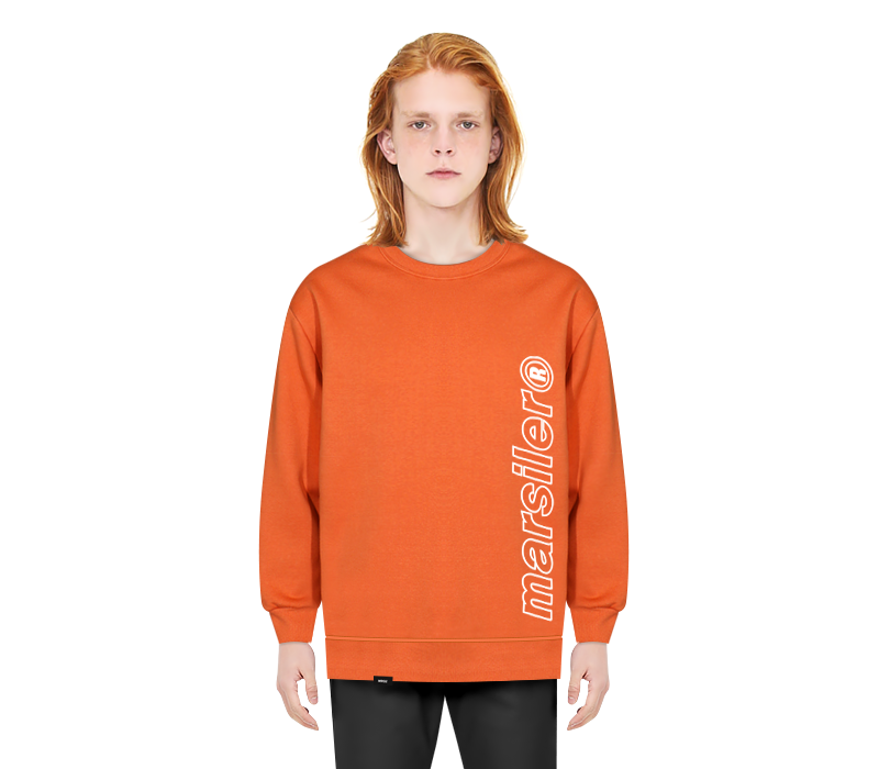 OUTLINE CREWNECK ORANGE