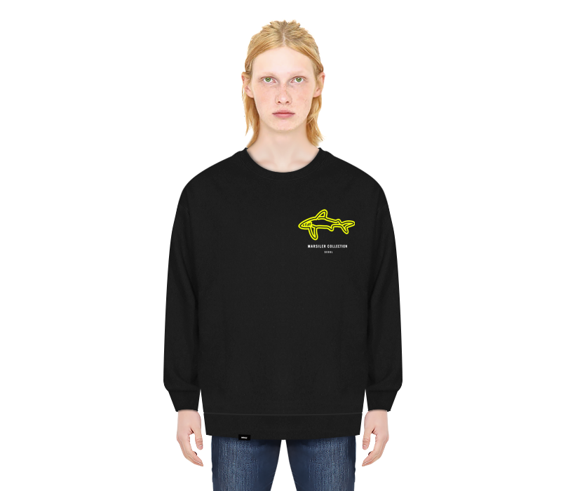 SHARK CREWNECK BLACK